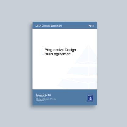 DBIA 544 - Progressive Design-Build Agreement