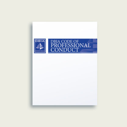 Manual of Practice - DBIA Code of Professional Conduct - Cover